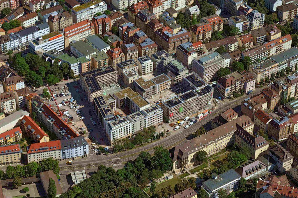 Luftbild des Olgäle-Geländes